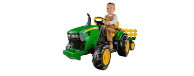 Tractor Peg Perego John Deere Ground Force con remolque