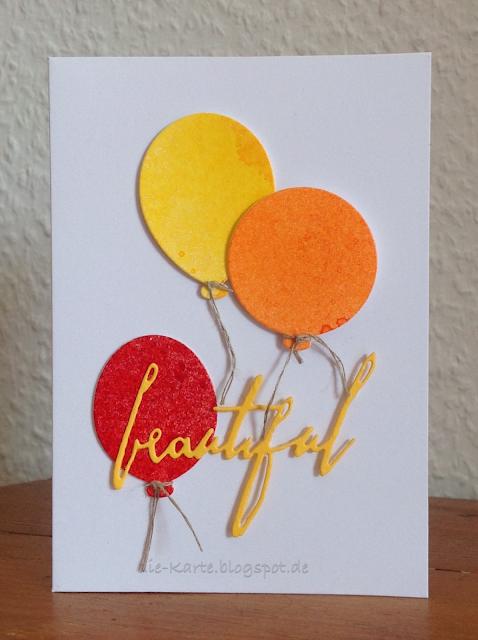 """Party Balloons"" Dies, My Favorite Things, ""Handwritten Love"" Tim Holtz"