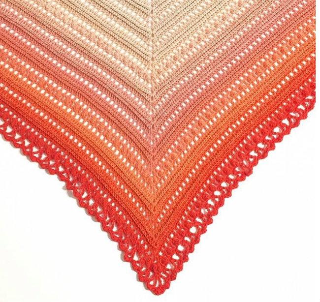 Scheepjes Whirl, pattern: Secret Paths Shawl, Mijo Crochet | Happy in Red