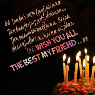 Gambar DP BBM Ucapan Selamat Ulang Tahun Untuk Sahabat