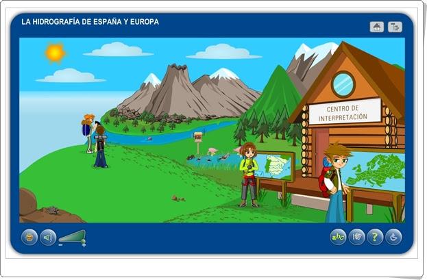 """""""La hidrografía de España y Europa"""" (Aplicación interactiva de Ciencias Sociales de Primaria)"""