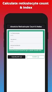 Calculate reticulocyte count & index