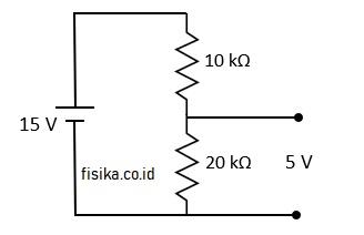 resistor berfungsi menurunkan tegangan