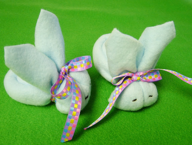 No-sew fleece boo-boo bunnies.