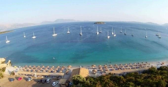 """Σε λίγες μέρες όλα έτοιμα στην καλύτερη παραλία της Αιτωλοακαρνανίας """"Βαθυαβάλι"""" Πογωνιάς"""