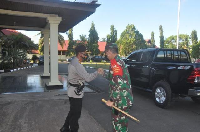 Eka Ganta Chandra dan Untung Sangaji Pimpin Pengamanan Debat Pilkada Merauke