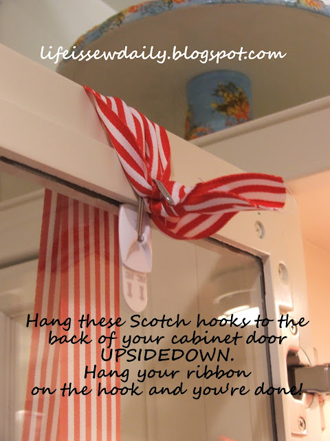 Life is {Sew} Daily: How to Hang a Wreath Almost Anywhere