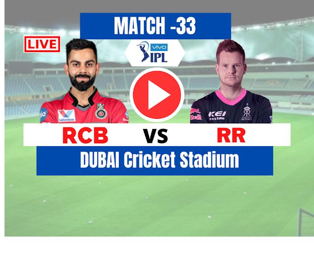 Dream 11 IPL 2020:  Rajasthan vs Bangalore, 33rd Match, Royal Challengers Bangalore need 177 runs