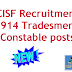 CISF Recruitment 2019 online apply 914 constable tradesmen posts exam pattern and syllabus