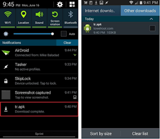Install TR.APK TowelRoot Android
