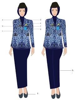 pakaian korpri pns wanita 2020