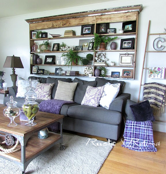 Diy projects on a budget rustic refined for Modern living room hutch