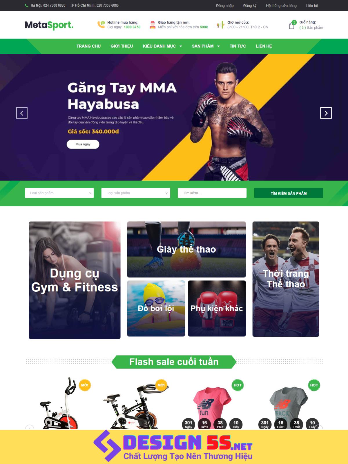 Theme blogspot bán hàng dụng cụ thể thao VSM24 - Ảnh 1