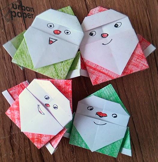 Origami Santa Claus O Papiroflexia Papa Noel Como Querais Urban - Origami-papa-noel