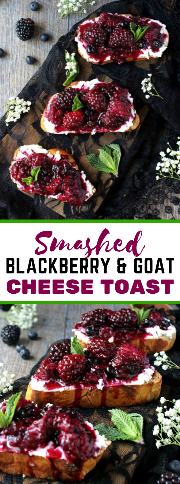 SMASHED BLACKBERRY & GOAT CHEESE TOASTS #dinner #healthy