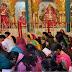 नवरात्रि पर मंदिरों में उमड़ी श्रद्धालुओं की भीड़