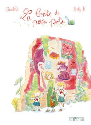 couverture de la boite de petit pois de GiedRé et Holly R chez Delcourt