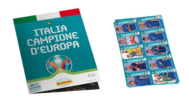Poster figurine Panini Italia campione d'Europa