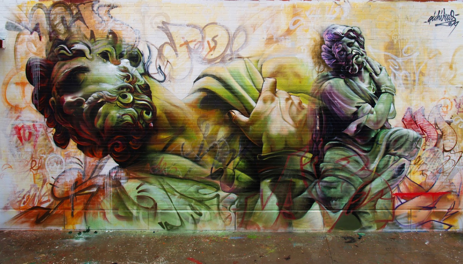 Pichi and Avo just finished working on this new piece for the Hip Hop Street Vicar Festival 2014 in Almeria, a city in Andalusia, Spain. 1