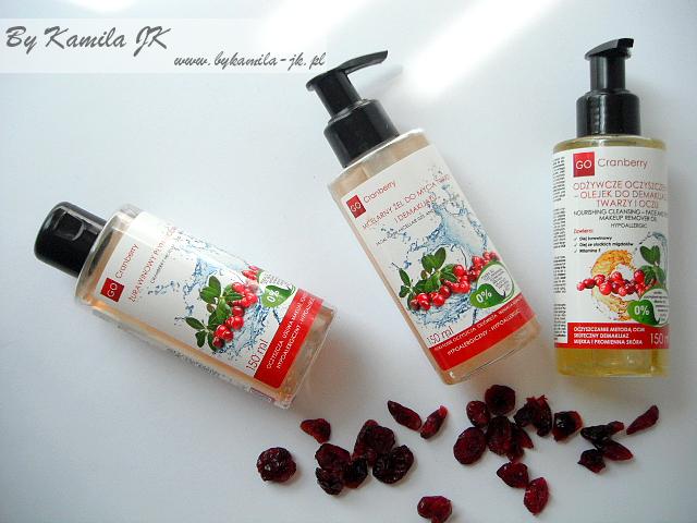 GoCranberry żurawinowy płyn micelarny, olejek do demakijażu micelarny żel pielęgnacja skóry twarzy Koreanki
