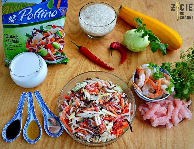 poltino, bukiet chinski, warzywa chinskie, mrozonki poltino, cukinia faszerowana, zycie od kuchni