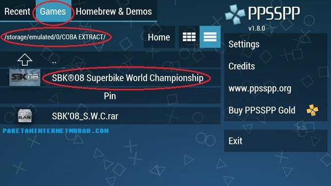 cara menggunakan emulator ppsspp di android