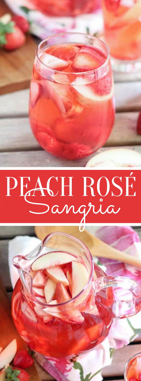 PEACH ROSÉ SANGRIA #drinks #summer