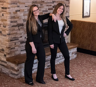 Allyson Williams and Karlie Acton led the student team that managed the Chellie Club: An Entrepreneurial Lab.