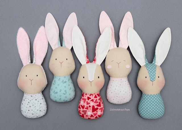 5 stuffed animals bunny rabbit toys for baby