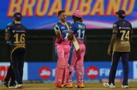 RR win over Kolkata by 6 wickets in 18th match of IPL 2021