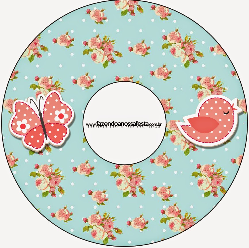 Birds and Butterflies Free Printable CD Labels.