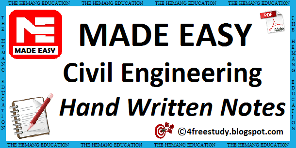 GATE Made Easy Civil Engineering Hand Written Class Notes