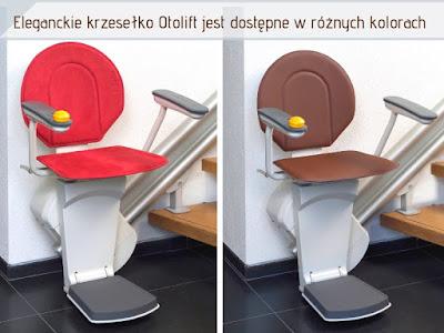 Eleganckie krzesełko Otolift jest dostępne w różnych kolorach