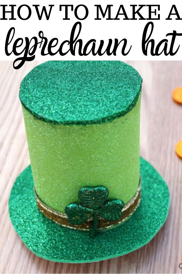How to make a cute leprechuan hat using the end of a can or dollar store supplies as a template. Get the directions to DIY this adorable hat for kids or for adults. Glue the mini hat onto a headband or place it on your mantel.