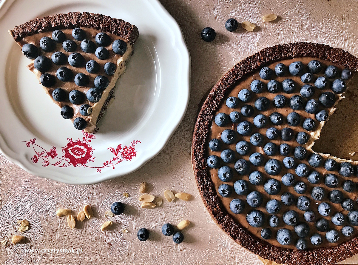 Tarta owsiano-orzechowa bez cukru