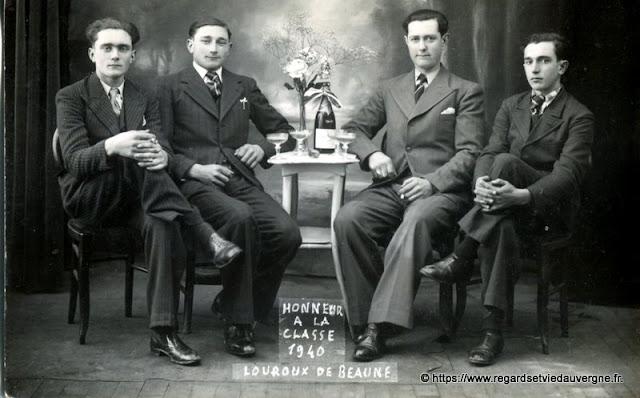 Photo ancienne conscrits de Louroux de Beaune