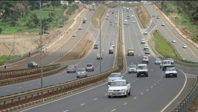 Thika road aerial view photo