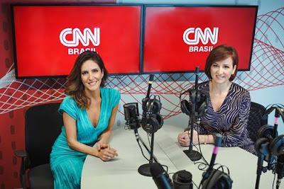 Monalisa Perrone e Thais Herédia nos estúdios da CNN Brasil - Divulgação
