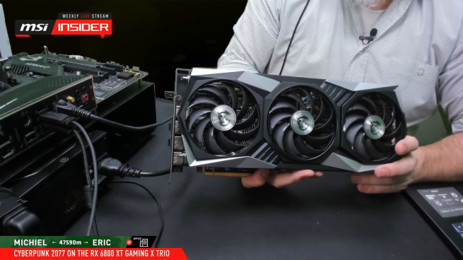 RX 6800 XT GAMING X TRIO Cyberpunk