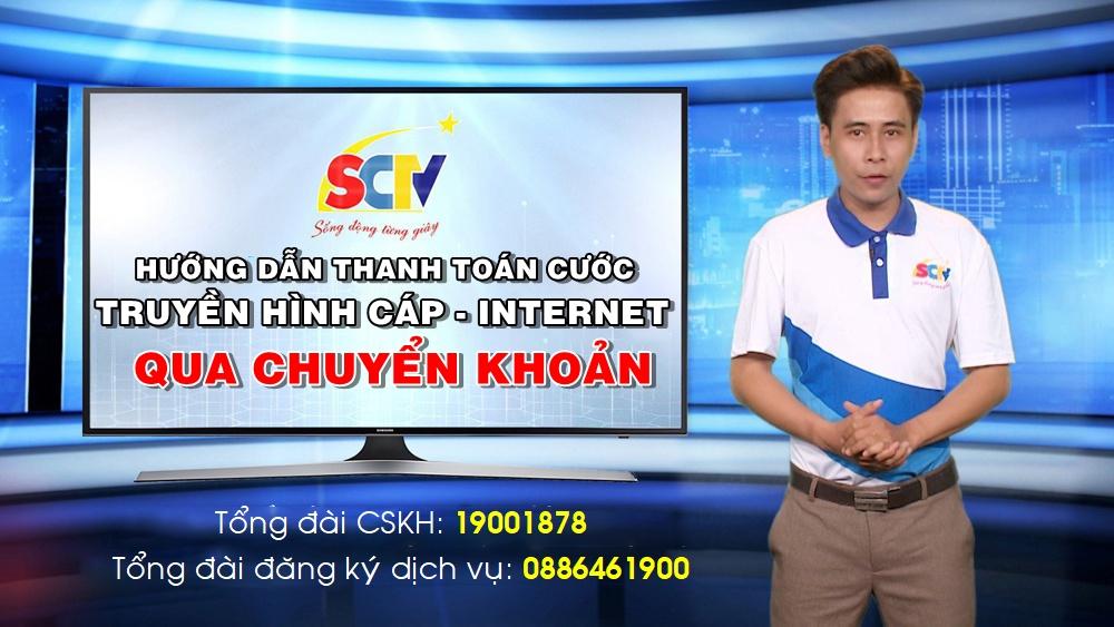Hướng dẫn thanh toán cước SCTV bằng hình thức chuyển khoản