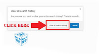 how to clear search history in you tube