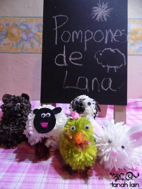 Figuras con Pompones de Lana