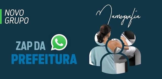 Anápolis: Prefeitura abre grupo de WhatsApp exclusivo para mamografias