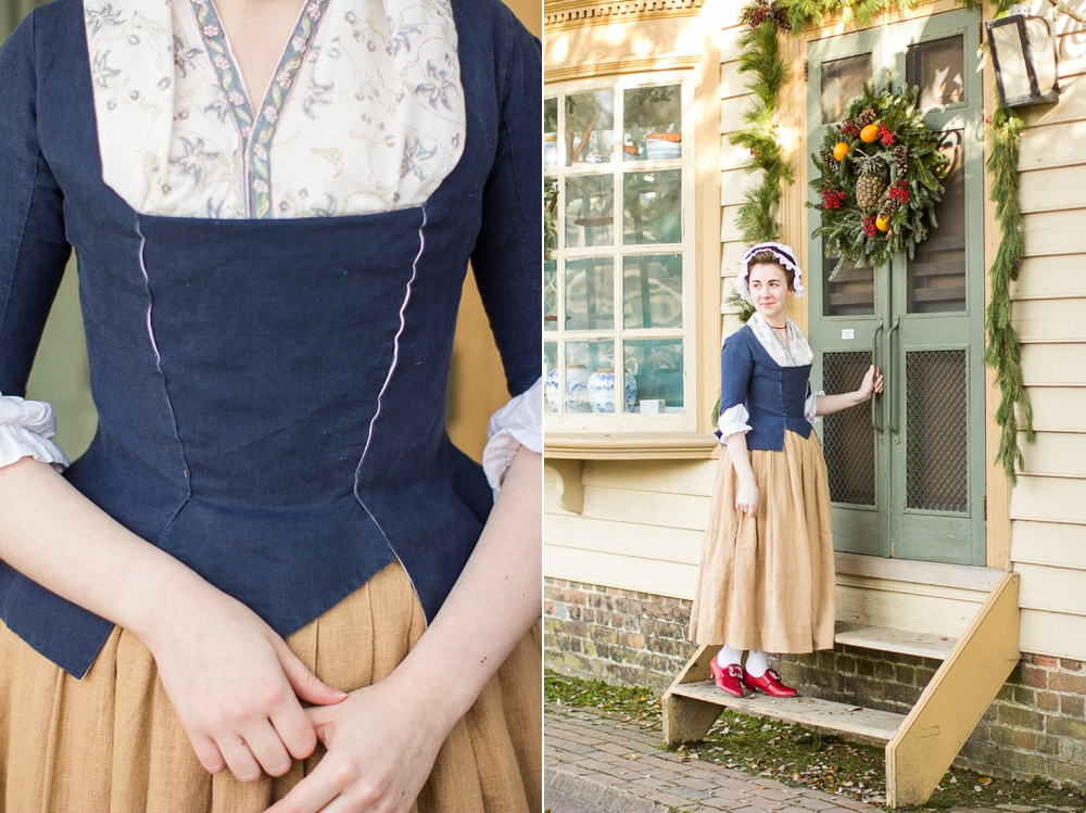 Mode de lis working class attire 1770s style House jeansy