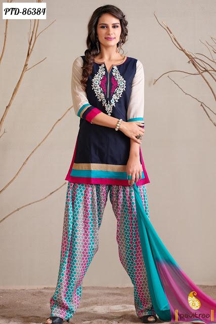 Patiala salwar suits and dresses onlinw at cheap cost at pavitraa
