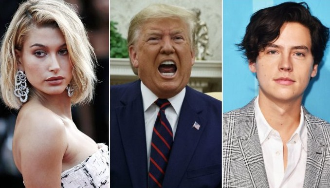 Impeachment Donald Trump: Hailey Baldwin, Ikẹ-inu ami idanimọ ti Cole Sprouse
