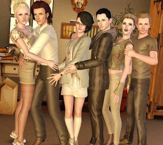 My Sims 3 Poses: Friends Group Posepack by Sims in a Storm