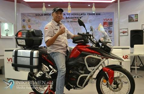 Kendarai Viar Vortex 250, Gunadi Lakukan Solo Riding ke Himalaya