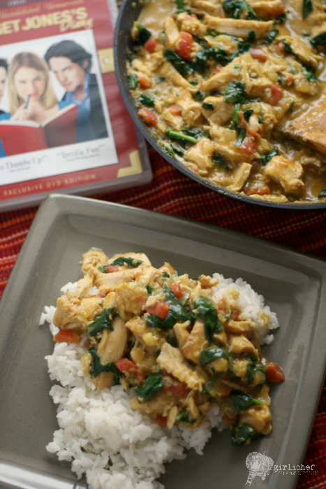 Smoked Turkey and Spinach Curry inspired by Bridget Jones's Diary #FoodnFlix