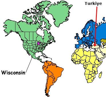 Wisconsin Turkiye. Turkiye'den Wisconsine NASIL gidilir